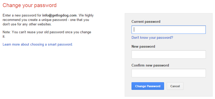 Gmail Account Hacked - Change your password