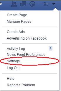 Facebook hacked - Settings