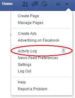 Facebook hacked - Activity log