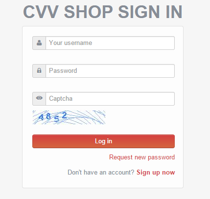 CVV Shop Sign In