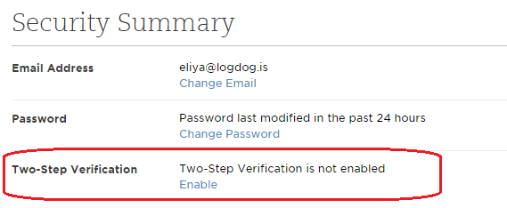 Evernote Two-Step Verification