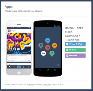 tumblr associated apps