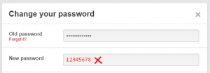 bad pinterest password