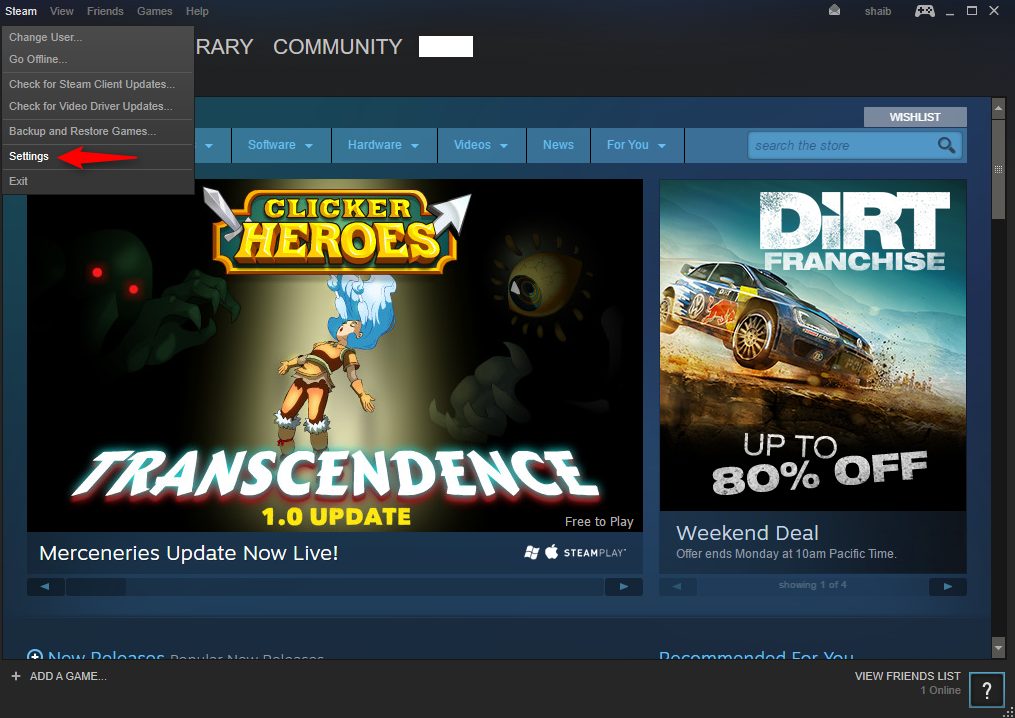 "Click on ""Steam"", then ""Settings"" - Steam account hacked"