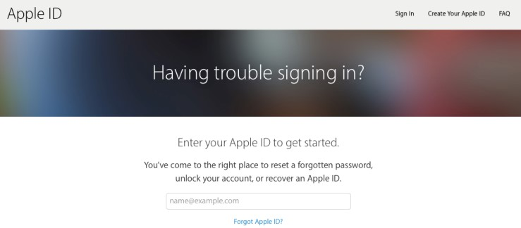 Reset password - Apple ID account hacked