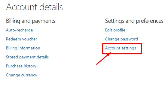 account settings- skype account hacked